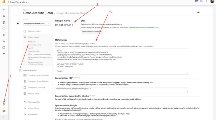 Kde získat měřící kód Google Analytics
