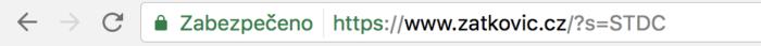 URL adresa po vyhledávání
