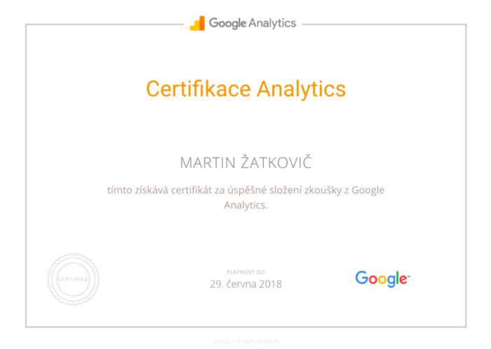 Osobní certifikace Google Analytics