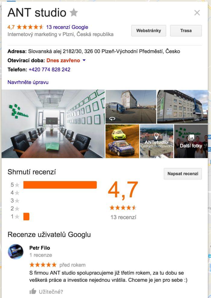 Kladné hodnocení na Google se promítne i v Google Mapách